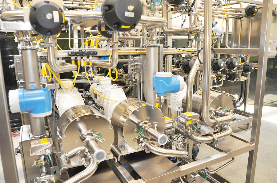 Chromatography Skid, 2 Inch, with Quattroflow QF20 Diaphragm Pumps
