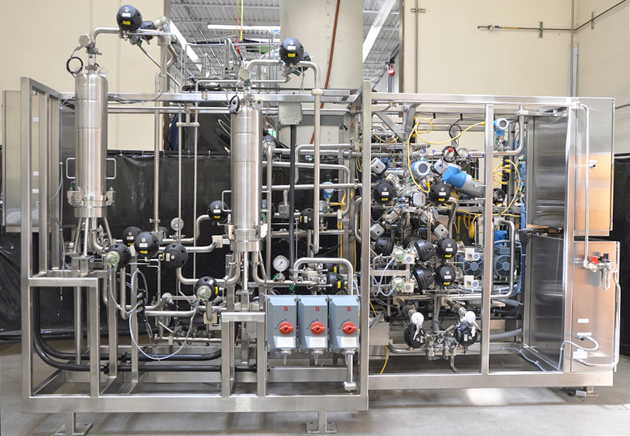 Chromatography Skid, 1-1/2 Inch, with Quattroflow Diaphragm Pumps and Split Frame Design